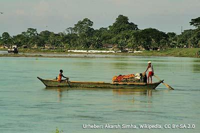 Boot auf Brahmaputra
